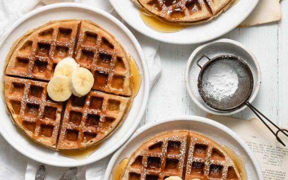 Receita: Waffle de Banana Saudável